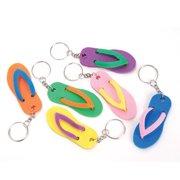 41628b4aaef7c Rinco Mini Flip Flop Summer Keychains 2.5 inch Party Favor