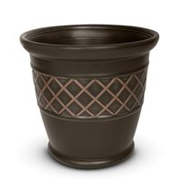 """Better Homes and Gardens 18"""" Planter, Brown"""