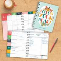 "2019 Follow Your Heart July 2018 - June 2019 Academic Year 8""x6.5"" Medium Weekly Monthly Planner"