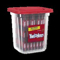 Twizzlers Strawberry Twists Licorice Chewy Candy Tub, 33.3 Oz., 105 Count