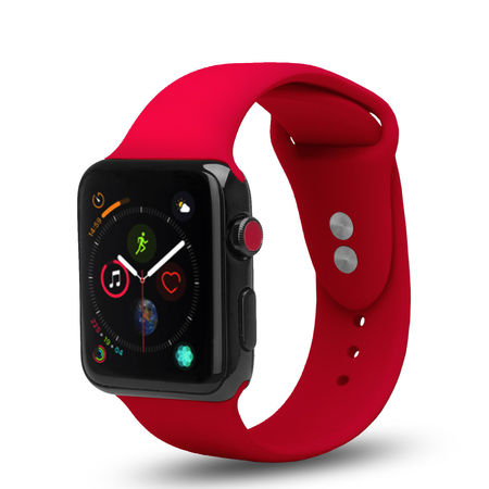 Apple Watch Replacement Bands 40mm/38mm, Soft Silicone Wristband for iWatch Apple Watch Series 1/2/3/4/Nike+ - Red - image 1 of 1