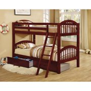 cd688543ca Martin Twin over Twin Bunk Bed Arched Design with 2 drawers - Cherry