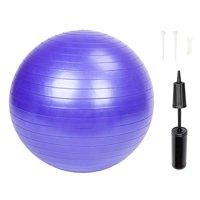 Zimtown Yoga Ball 55cm Exercise Gymnastic Fitness Pilates Balance Muscle Exercise Gym