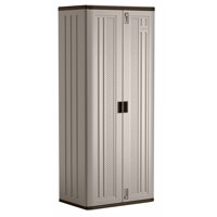 "Suncast 30"" W x 20.25""D x 72""H Tall Resin Storage Cabinet Locker, Platinum, BMC7200"