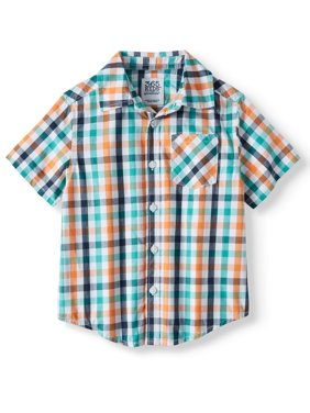 Short Sleeve Plaid Button Down Shirt (Little Boys & Big Boys)