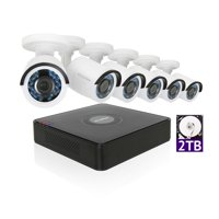 LaView 1080P HD 6 Security Cameras 8CH Home Video Security Camera System w/ 2TB HDD 2MP Night View Cameras CCTV Surveillance Kit
