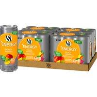 (24 Cans) V8 +Energy, Peach Mango, 8 Fl Oz
