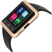 Bluetooth Smart Watch Phone and Fitness Activity Tracker Touch Screen Smart Wrist Watch - Black