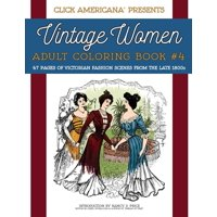 Product Image Vintage Women Adult Coloring Book 4 Victorian Fashion Scenes From The Late 1800s