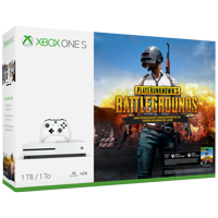 Refurbished Microsoft Xbox One S 1TB PLAYERUNKNOWN'S BATTLEGROUNDS Bundle, White, 234-00301