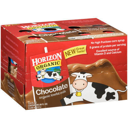 Horizon Organic Low-Fat Chocolate Milk, 8 Fl. Oz., 12 Count