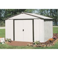 Arlington 10 x 12 ft. Steel Storage Shed Eggshell/Coffee Trim