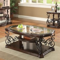 Coaster Furniture Contemporary Glass Top Coffee Table