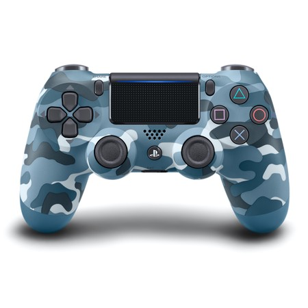Dual Shock Black Wireless Controller (Sony PlayStation 4 DualShock 4 Wireless Controller, Blue Camo, 3003235 )