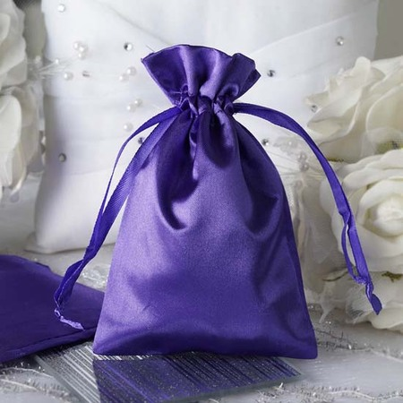 Favor Bags (Efavormart 12PCS Satin Gift Bag Drawstring Pouch for Wedding Party Favor Jewelry Candy Solid Satin Bags - 4