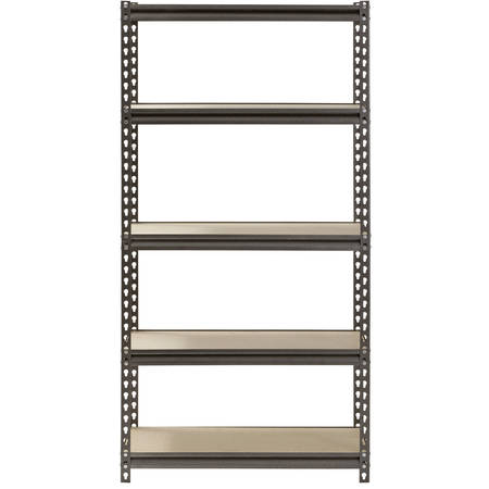 Muscle Rack 5-Shelf Steel Shelving, Silver-Vein, 12