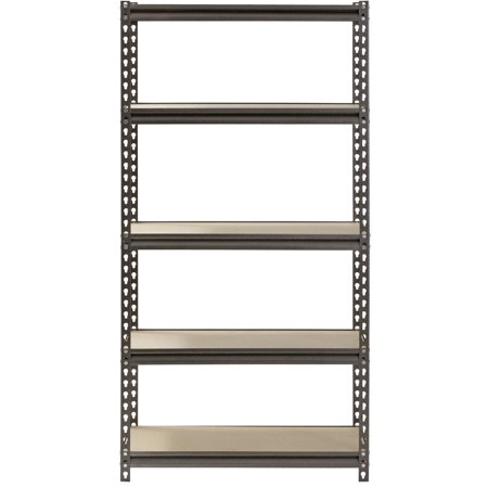 "Muscle Rack 5-Shelf Steel Shelving, Silver-Vein, 12"" D x 30"" W x 60"" H"