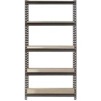 """Muscle Rack 5-Shelf Steel Shelving, Silver-Vein, 12"""" D x 30"""" W x 60"""" H"""