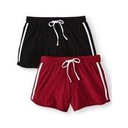 45b7c43316c Juniors  Basic Knit Shorts with Tie-Front 2-Pack Value Bundle
