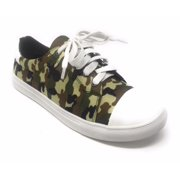 1b804c1410 Forever Young Women s Camouflage With Solid White Tipping Lace up Sneakers