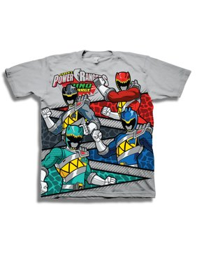 "Power Rangers Boys' ""Dino Charge"" Character Scale Dinosaur Panels Short Sleeve Graphic T-Shirt"