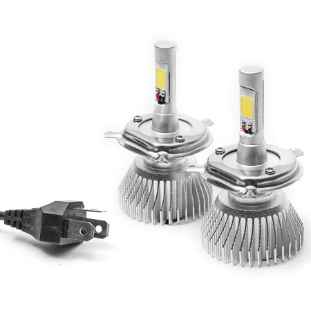 Biltek LED Low Beam Conversion Bulbs for 2009 Vespa GTS 300 (H4 / 9003/HB2 (High/Low Beam)