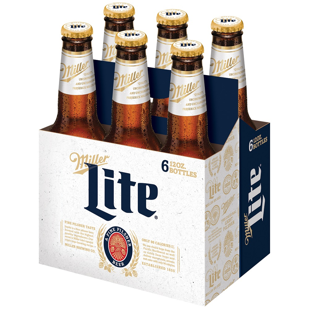 Miller Lite Beer, 6 pack, 12 fl oz