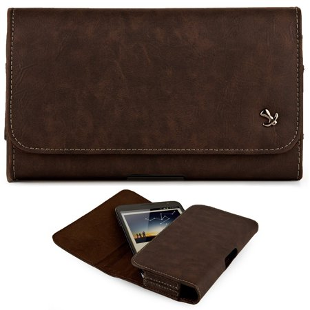 iPhone 6 6s 4.7 inch ~ Horizontal Leather Pouch Case Holster Belt Clip - Brown