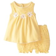 7e8e0bc5ead Nannette Infant Girls Yellow Daisy Dress Baby Girl 2 PC Sundress