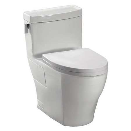 Toto Ultimate One Piece (Toto Aimes Elongated 1 Piece Toilet MS626214CEFG#11 Colonial White)