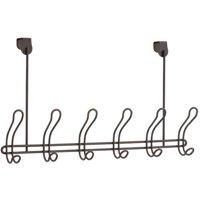 Mainstays Classico Over-the-Door 6-Hook Rack, Bronze