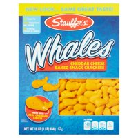 (2 Pack) Stauffer's Whales Cheddar Cheese Baked Snack Crackers, 16 oz