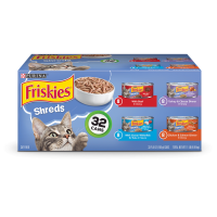 Friskies Savory Shreds Adult Wet Cat Food Variety Pack - (32) 5.5 oz. Cans