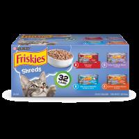 Friskies Gravy Wet Cat Food Variety Pack; Savory Shreds - (32) 5.5 oz. Cans