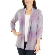 4bcd6221e57b2 Women s Petite 3 4 Sleeve Ombre Open Front Cardigan Sweater