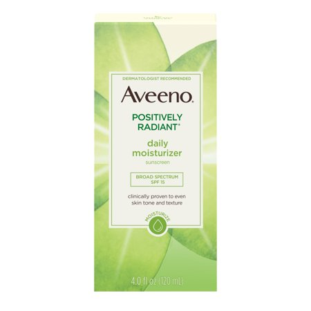 Aveeno Positively Radiant Daily Face Moisturizer SPF 15 & Soy, 4 fl. (Best Moisturizer With Spf)