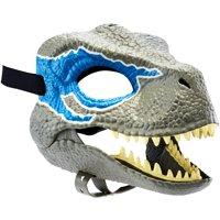 Jurassic World Velociraptor Blue Dinosaur Mask with Realistic Details