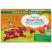 (2 Pack) Annie's Gluten Free Bernie's Farm Organic Fruit Snacks, 5 ct, 4 oz