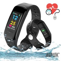 AGPtek Fitness Tracker Waterproof Activity Tracker Blood Pressure Heart Rate monitor Sports Wristband for Android IOS