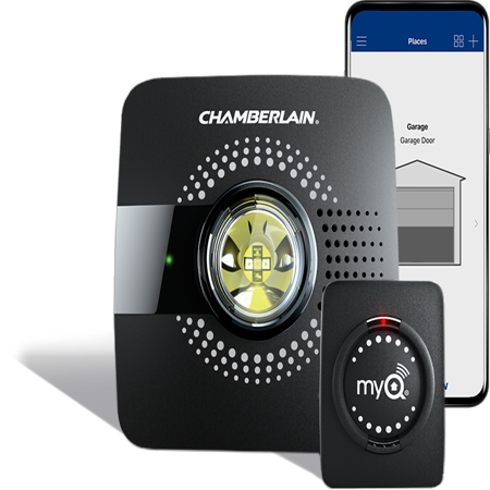 MyQ Smart Garage Door Opener Chamberlain MYQ-G0301 - Wireless & Wi-Fi Enabled Garage Hub with Smartphone Control - Homemade Garage Door Halloween Decorations