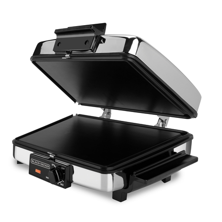BLACK+DECKER 3-in-1 Waffle Maker & Indoor Grill/Griddle, Stainless Steel, G48TD