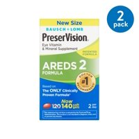 (2 Pack) Preservision AREDS 2 Formula Softgels, 140 count