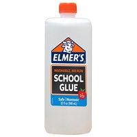 Elmer's Liquid School Glue, White, Washable, 32 Ounces, Great for Making Slime