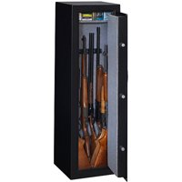 Stack-On 10-Gun Electronic Lock, Matte Black