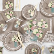 52b521a9f60 Large Rustic Wedding Bridal Shower Party Supplies Kit