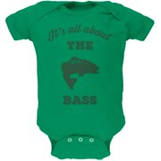 Paws - It's all about the Bass Green Soft Baby One Piece