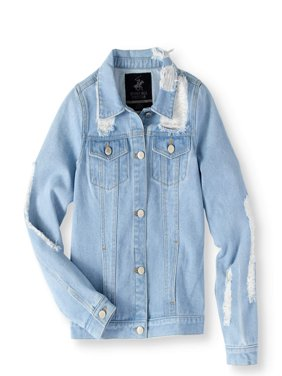 Distressed Denim Jacket (Big Girls)
