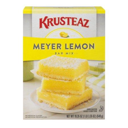 (3 Pack) Krusteaz Meyer Lemon Bars Supreme Mix, 19.35-Ounce Box