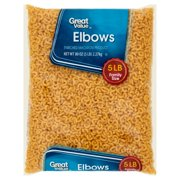 (2 pack) Great Value Elbow Macaroni, 5 lb