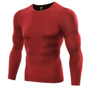 Men Compression Quick Dry T-shirt Tights Sports Gym Thermal Base Layer ac463a103b